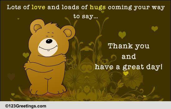 A Bear Hug For You! Free Congratulations ECards Greeting