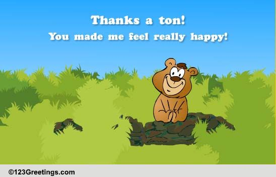 Thanks A Ton! Free Congratulations ECards Greeting Cards