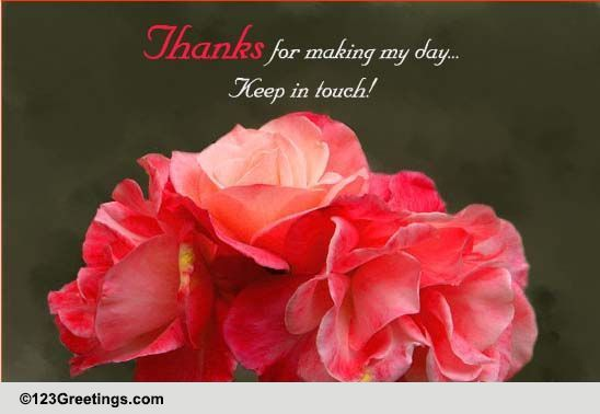 Thanks Keep In Touch! Free Stay In Touch ECards Greeting