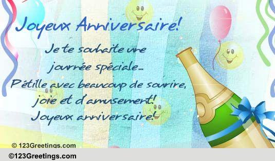 Birthday Cards French Language