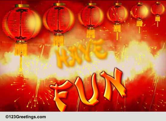 Fireworks 4713! Free Spring Festival Golden Week ECards