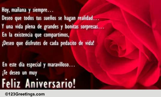 Spanish Aniversario Cards Free Spanish Aniversario Wishes