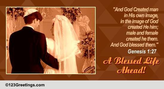 A Jewish Wedding Card Free Around The World ECards Greeting Cards 123 Greetings