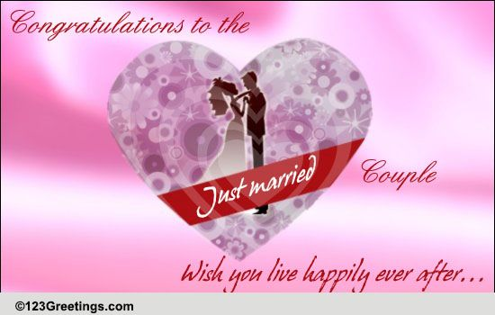 Congrats! Free Just Married ECards Greeting Cards 123