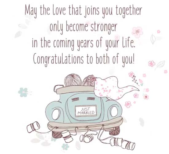 congratulations to you both