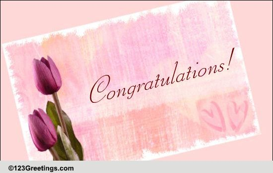 Congratulations To The Married Couple Free Congratulations ECards 123 Greetings