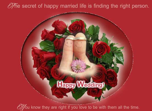 Secret Of Happy Married Life Free Congratulations eCards