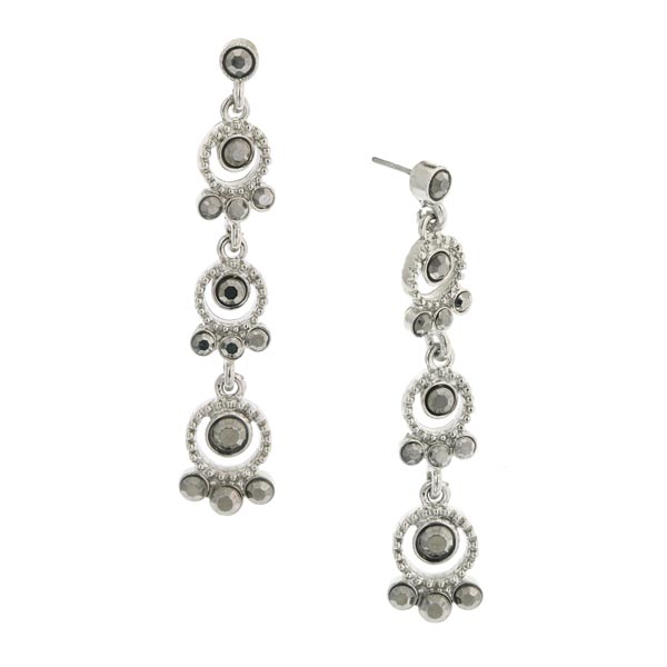 Stardust Silver-Tone Drops Long Dangle Earrings