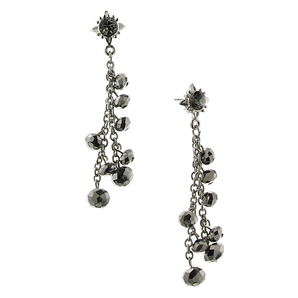 Stardust Shimmer Beaded Dangle Earrings