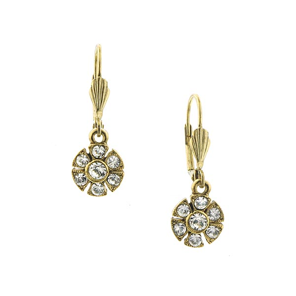 Dolores Windmill Crystal Flower Earrings