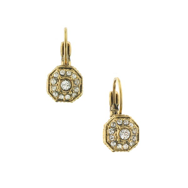 Dolores Crystal Art Deco Octagon Earrings