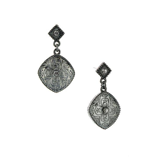 Jardine Geometric Metal Drop Earrings