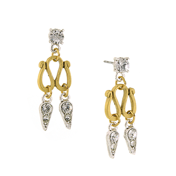 Antiquities Couture Crystal Swirl Earrings