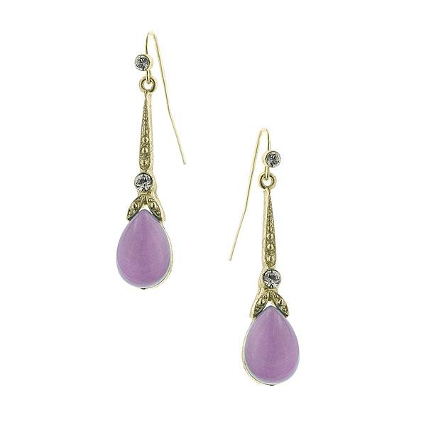 Divine Purple Pastel Drop Earrings