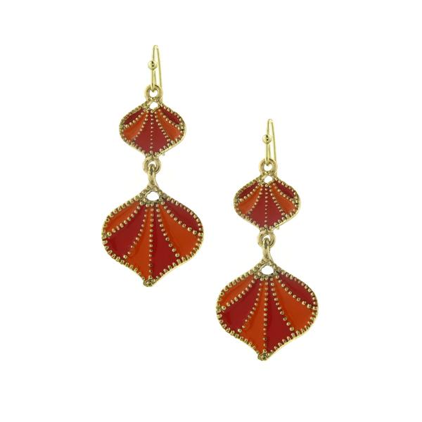 2028 Coral Seashell Dangle Earrings