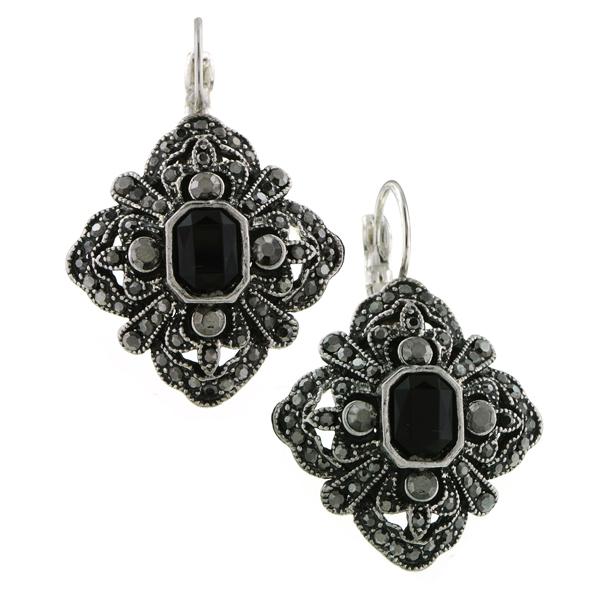 2028 Marcasite Diamond Drop Earrings