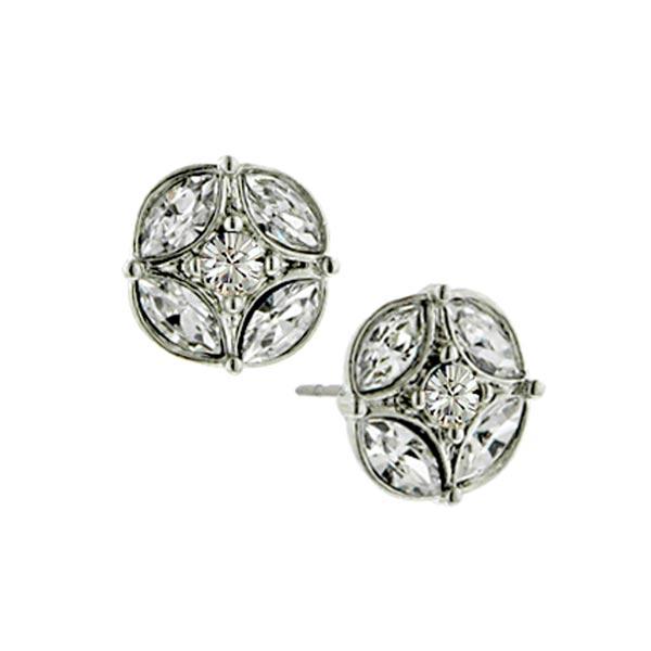 Amore Geometric Star Button Earrings