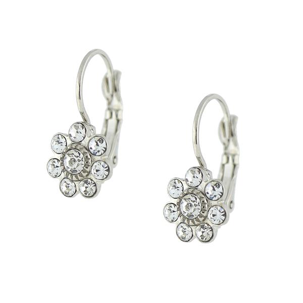 Alex Nicole® Heirlooms Petite Crystal Flower Earrings