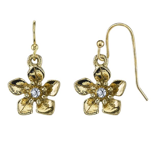 Le Marais Florals Gold-Tone Flower Drop Earrings