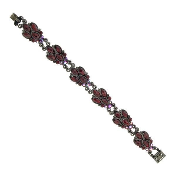 Cabernet Fly Motif Red Crystal Bracelet