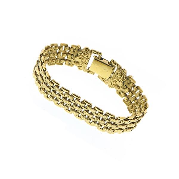 Dolores Golden Link Mesh Retro Bracelet