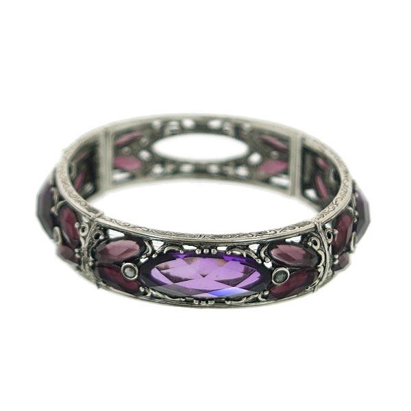 Morado Jewel Navette Cut Stretch Bracelet