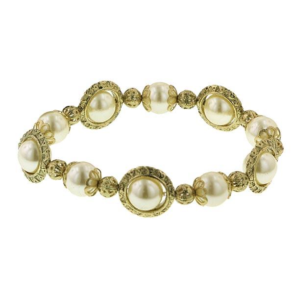 1960s Belle de Jour Rotating Pearl Bracelet