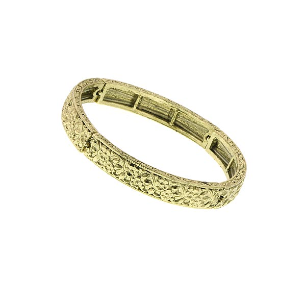 Brass-Tone Stretch Bangle Bracelet