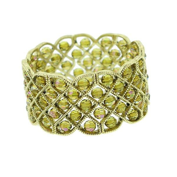 Golden Northern Lights Lattice Stretch Bracelet