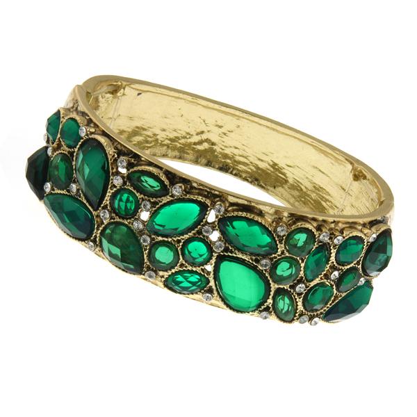 2028 Enjoli Emerald Crystal Cluster Bracelet