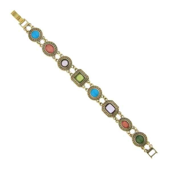 Signature Gold-Tone Multi-Color Bracelet