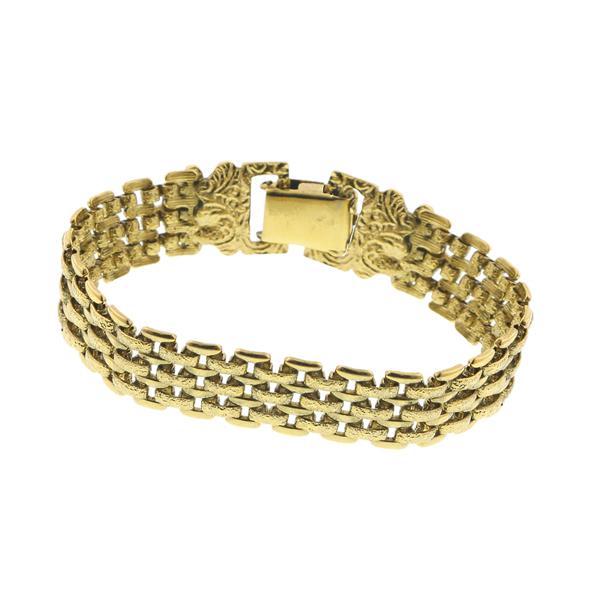 Alex Nicole® Dolores Golden Link Mesh Retro Bracelet