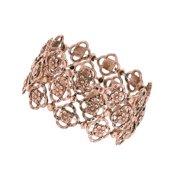 Felice in Copper-Tone Vintage Stretch Bracelet