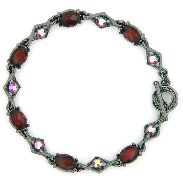 Blaze Siam Diamond Shape Toggle Bracelet