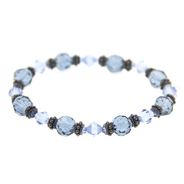 Sapphire and Montana Blue Beaded Bracelet