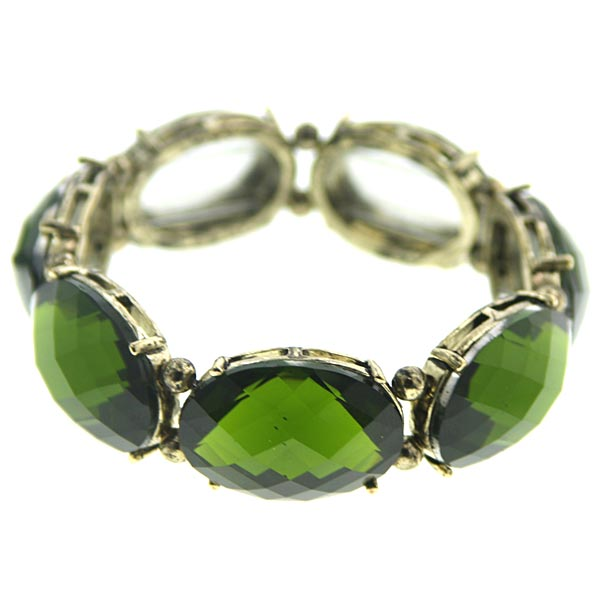 Colletes Collectables Olive Hues Stretch Bracelet