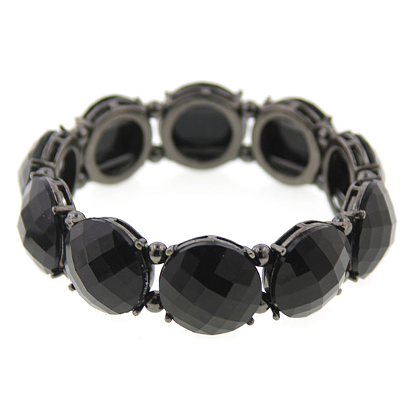 Boutique Black Rhinestone Bracelet