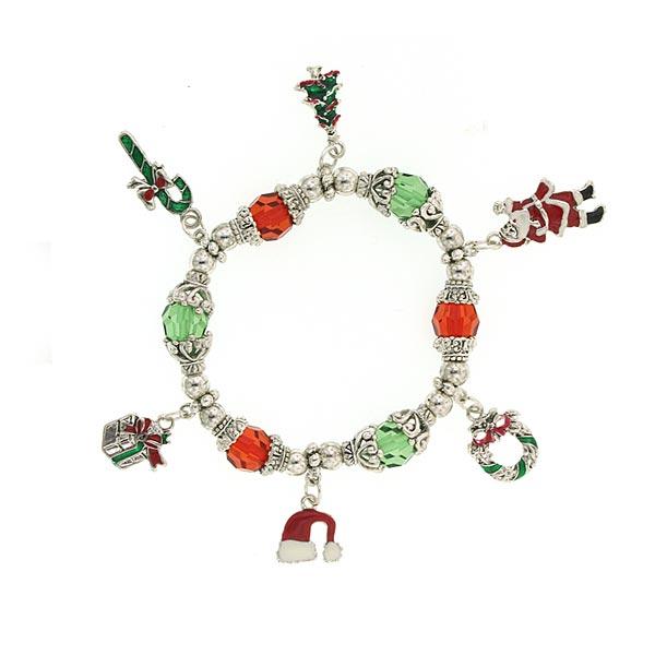 Santa's Treats Christmas Charm Bracelet