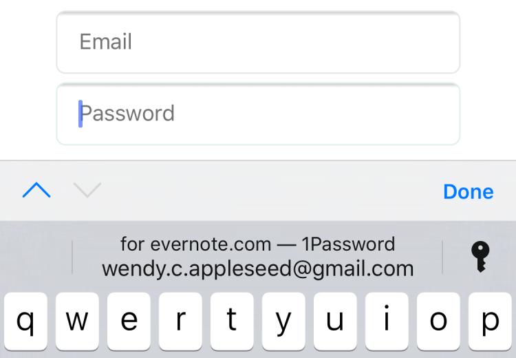 ios password autofill