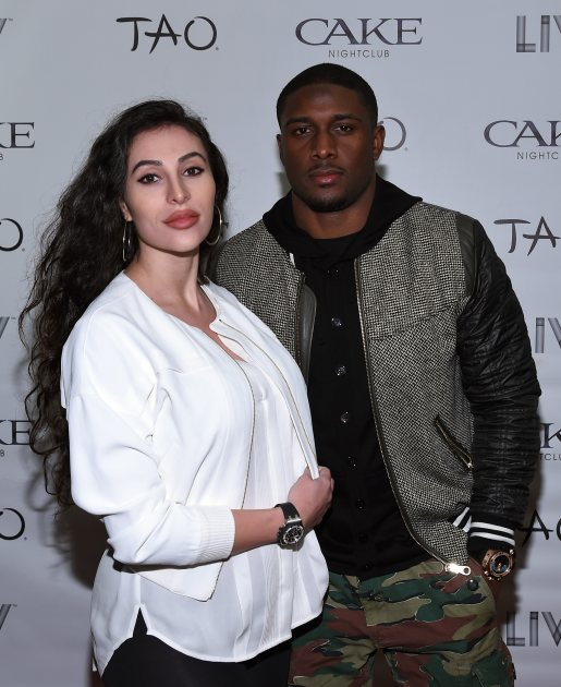 Lilit Avagyan and Reggie Bush arrive at 'LIV on Sundays' presented by TAO Takeover Party at CAKE Nightclub on February 1, 2015 in Scottsdale, Ariz. (Getty Images)