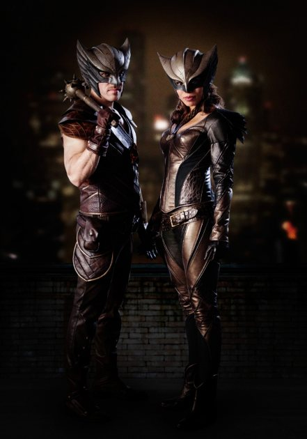 Hawkman (Falk Hentschel) and Hawkgirl (Ciara Renée) from 'DC's Legends of Tomorrow' on The CW (The CW)