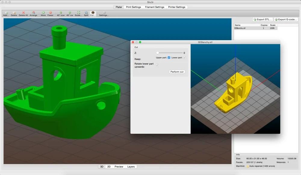 logiciel impression 3D Slic3R