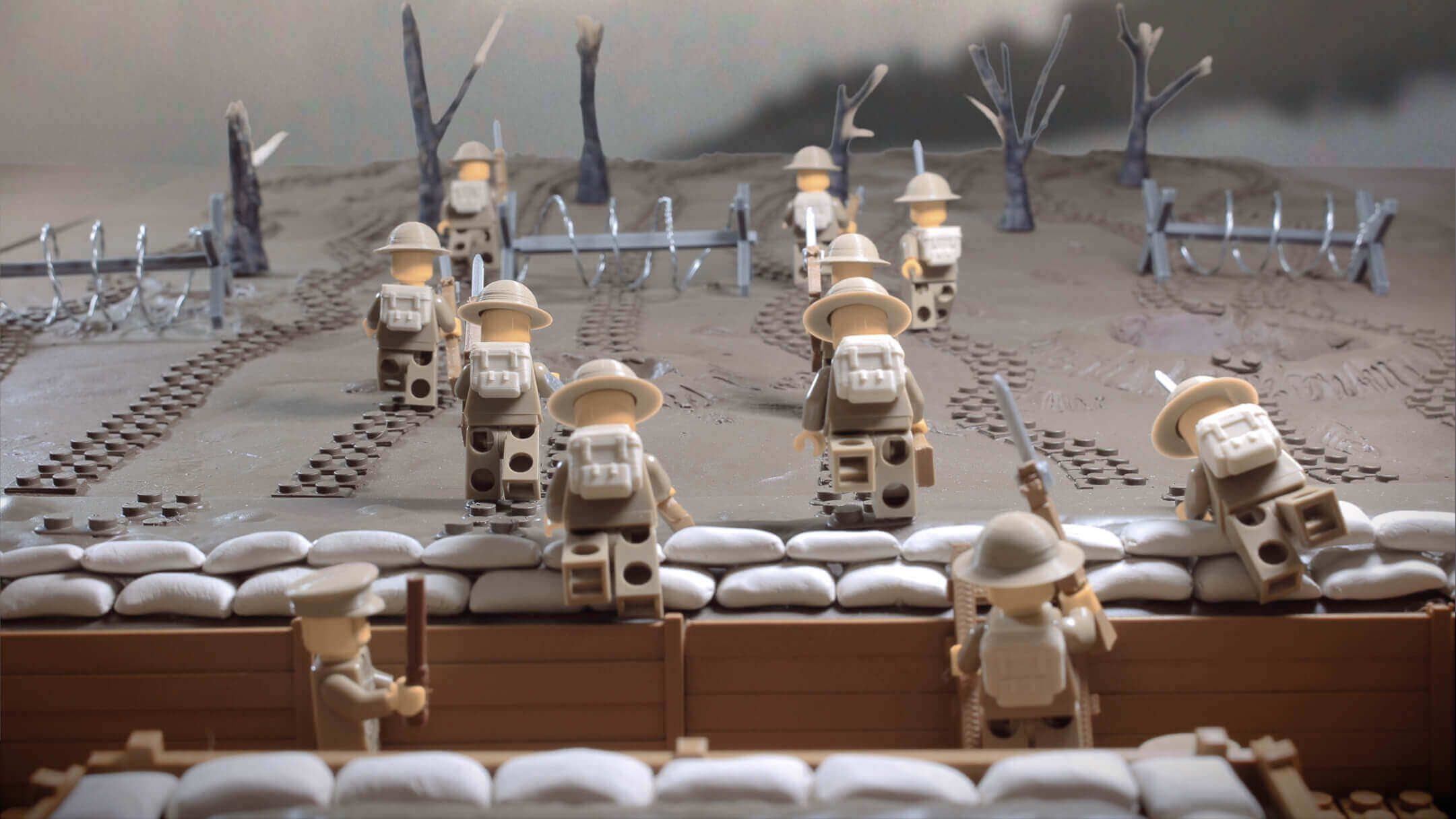 Minifig Battlefields Recreate Wwi Trenches With Lego And 3d Printing
