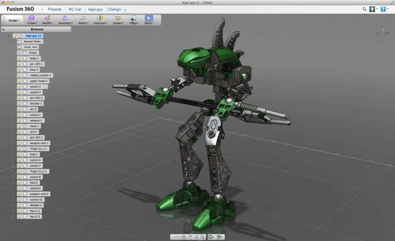 Image of Best 3D Software (3D Modeling Software/3D Design Software): Fusion 360