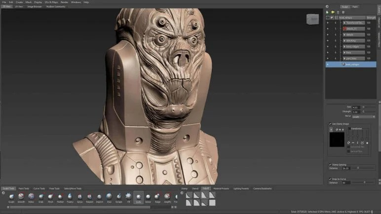 Image of Best 3D Software (3D Modeling Software/3D Design Software): Mudbox