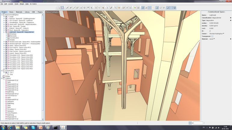 Gambar program perangkat lunak / arsitektur BIM: B-prosesor
