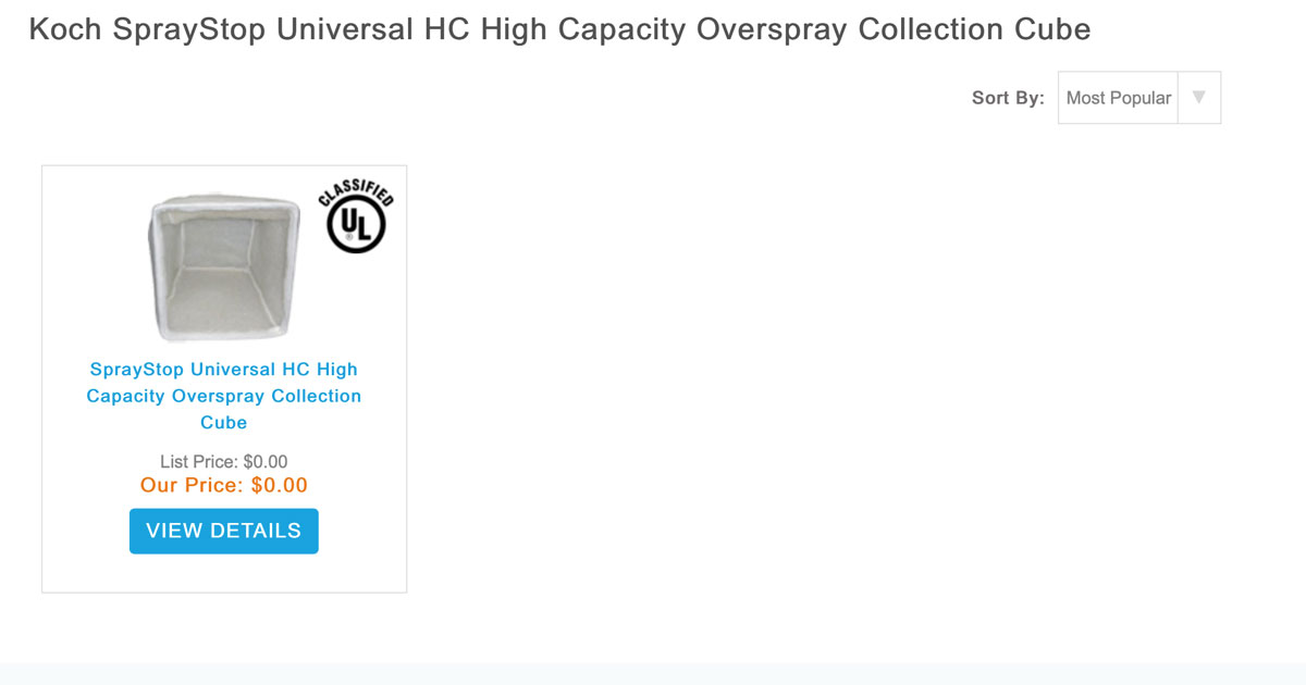 SprayStop Universal HC Overspray Collection Cubes