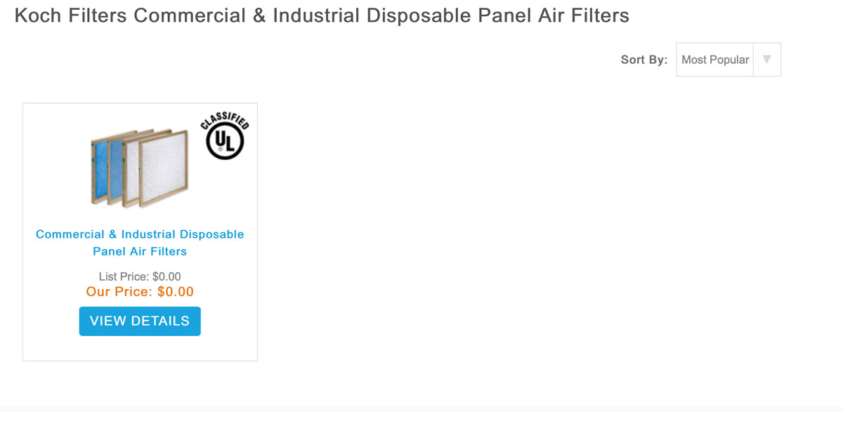 Commercial / Industrial Disposable Panel Air Filters