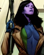 purple woman - marvel universe