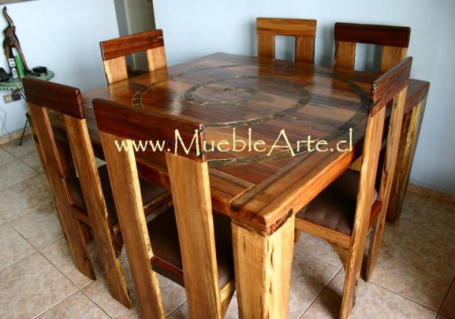 Muebles Rusticos con madera Noble reciclada en Villa Luro